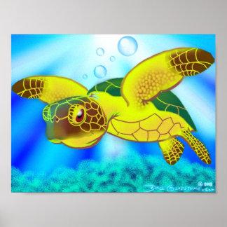 Impresión 12b de la tortuga de mar posters
