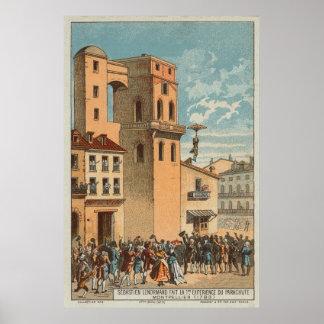 Impresión 1783 del paracaídas de la fantasía póster