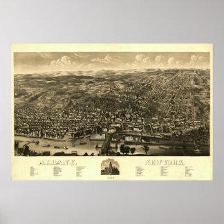 Impresión 1879: Albany, Nueva York Póster