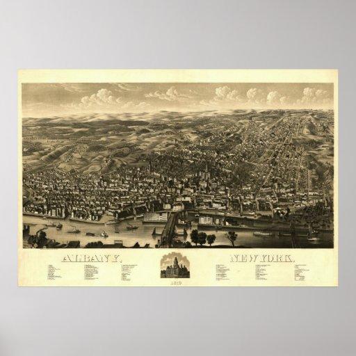 Impresión 1879: Albany, Nueva York Poster