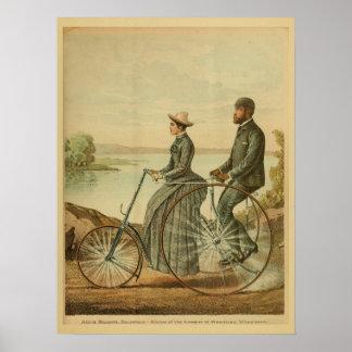 Impresión 1893 del arte del anuncio del velocípedo póster