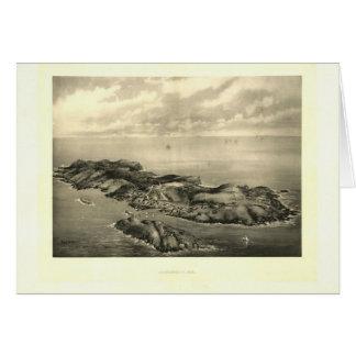 Impresión 1896 de la isla de Monhegan del vintage Tarjeta De Felicitación