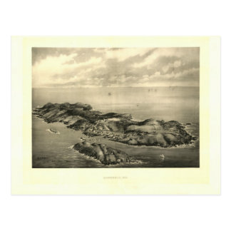 Impresión 1896 de la isla de Monhegan del vintage Postal