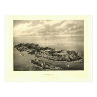 Impresión 1896 de la isla de Monhegan del vintage Tarjetas Postales