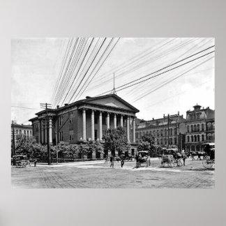 Impresión 1900 de Nashville Tennessee del tribunal Póster
