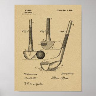 Impresión 1900 del arte de la patente de diseño póster