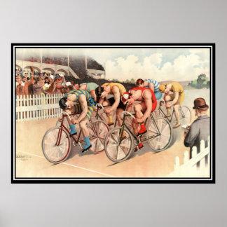 Impresión 1904 del poster de la raza de bicicleta