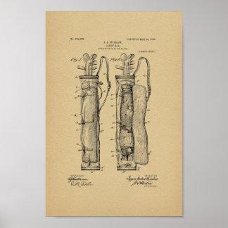 Impresión 1905 del arte de la patente del bolso póster