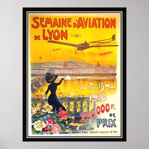 Impresión 1910 del poster de Lyon Francia de la se