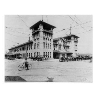 Impresión 1910 del SC de Charleston de la estación Póster