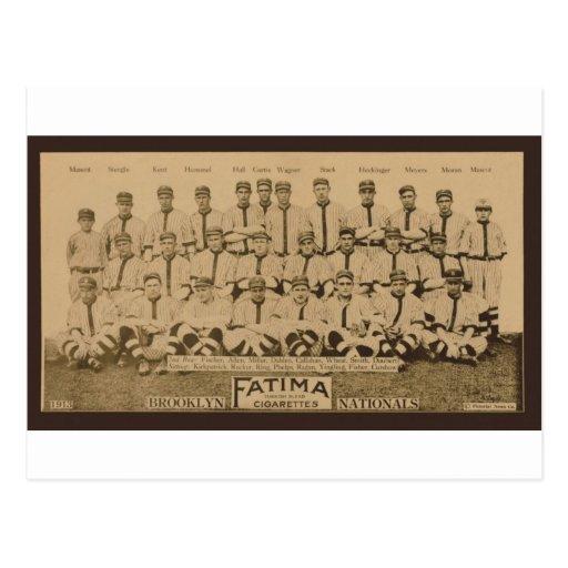 Impresión 1913 de tarjeta del tabaco de Brooklyn D Postal