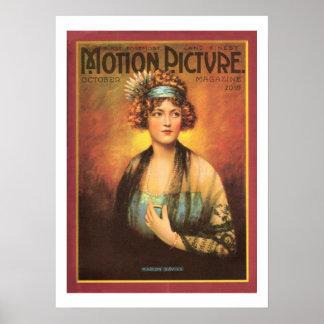 Impresión 1919 de la revista de la película del vi póster