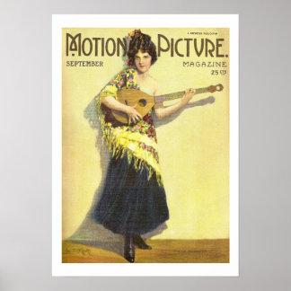 Impresión 1920 de la revista de la película del vi póster