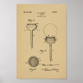 Impresión 1926 del arte de la patente de la póster