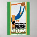 Impresión 1930 del poster del fútbol del mundial d