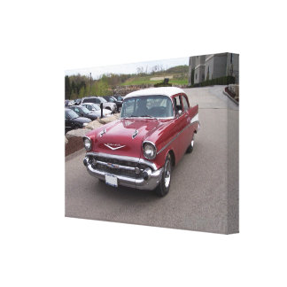 Impresión 1957 del Bel Air de Chevrolet Impresión En Tela