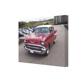 Impresión 1957 del Bel Air de Chevrolet Impresiones En Lona