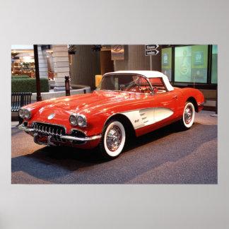 Impresión 1960 de Chevrolet Corvette Póster