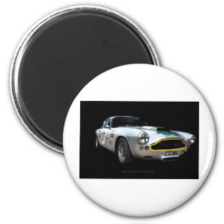 Impresión 1961 del arte de Aston Martin DB4 Imán Redondo 5 Cm