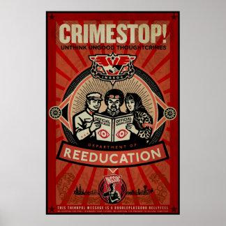 Impresión 1984 de INGSOC Thoughtcrime Poster