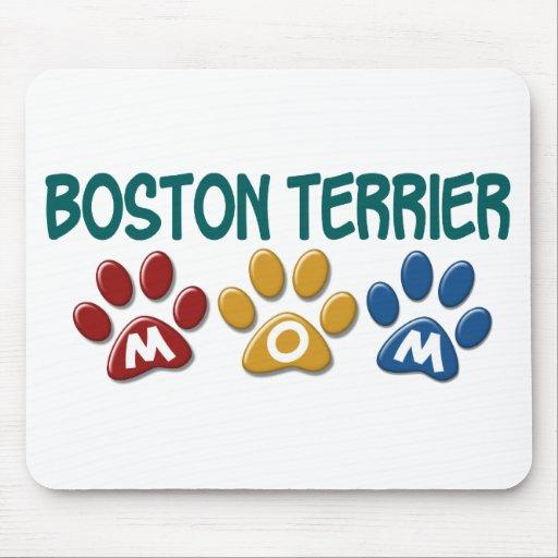 Impresión 1 de la pata de la MAMÁ de BOSTON TERRIE Alfombrillas De Ratón