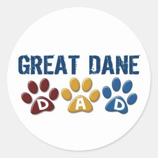 Impresión 1 de la pata del papá de GREAT DANE Etiquetas