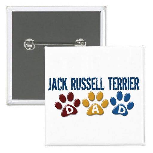 Impresión 1 de la pata del papá de Jack Russell Te Pin Cuadrada 5 Cm