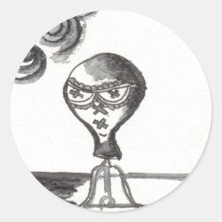 Impresión #1 del arte de Bijini: Gafas de sol para Pegatina Redonda