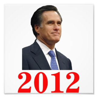 Impresión 2012 de la foto de Mitt Romney