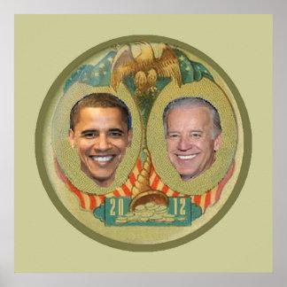 Impresión 2012 del POSTER de Obama
