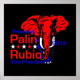 Impresión 2012 del POSTER de Palin Rubio