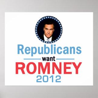 Impresión 2012 del POSTER de Romney