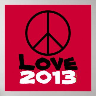 Impresión 2013 del arte del poster del amor de la