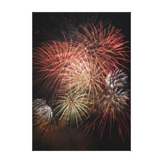 Impresión 20 de la lona de los fuegos artificiales impresión en tela