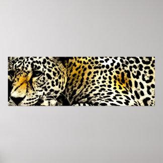 Impresión 36x12 del poster del leopardo
