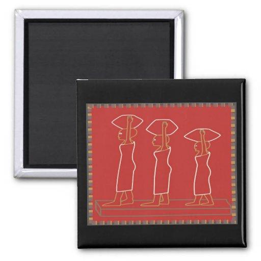 impresión #3 del grabar en madera imán cuadrado