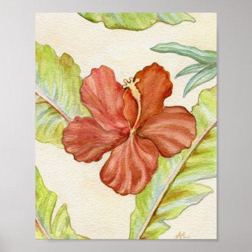 Impresión 8x10 del arte del hibisco impresiones