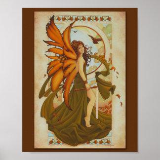 Impresión 8x10 del Faery de la armonía del otoño Impresiones