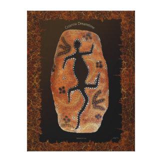 Impresión aborigen australiana del arte del lagart impresion en lona