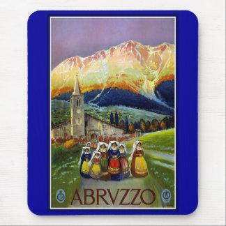 Impresión Abrvzzo Abruzos Italia del poster del vi Tapete De Raton