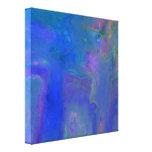 Impresión abstracta azul del abrigo de la lona de  impresiones en lona