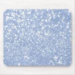 Impresión abstracta blanca azul femenina de la fot alfombrillas de ratón