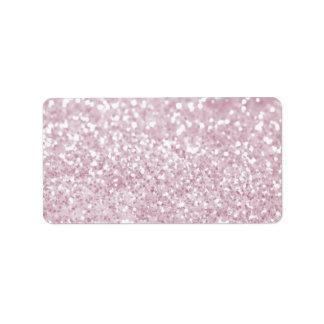 Impresión abstracta blanca rosada femenina de la etiquetas de dirección