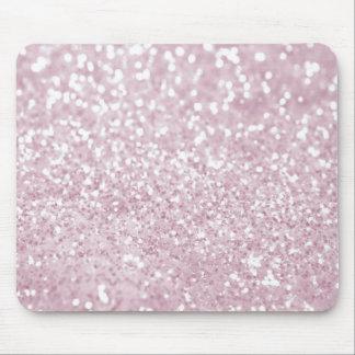 Impresión abstracta blanca rosada femenina de la f alfombrilla de raton