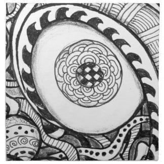 impresión abstracta blanco y negro del ojo servilletas de papel