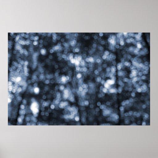 Impresión abstracta de Cyanotype de los puntos del Póster