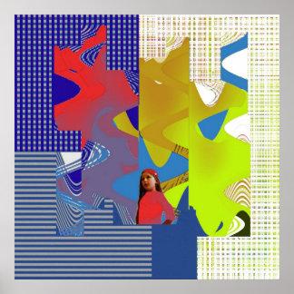 Impresión abstracta de Eloise del chica del mundo Poster