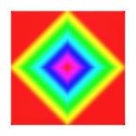 Impresión abstracta de encargo de la lona del dise lona envuelta para galerías