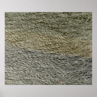 Impresión abstracta de la fotografía de las ondula poster