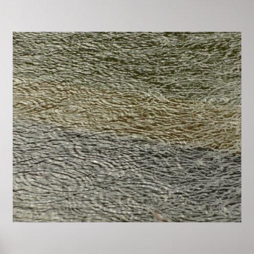 Impresión abstracta de la fotografía de las ondula póster